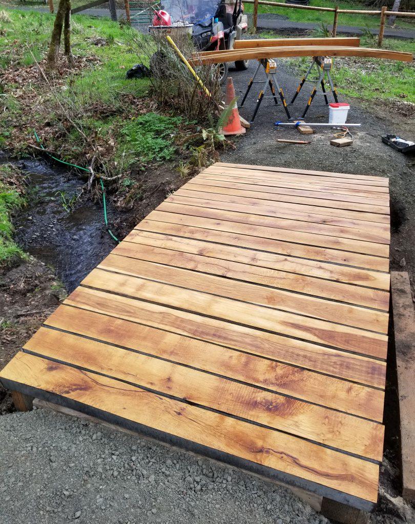 walking surface of new bridge